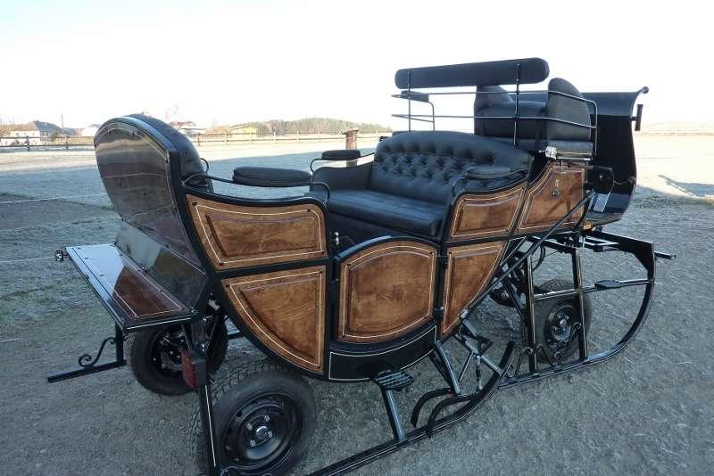 neu pferdeschlitten schlitten kutsche kutschen manufaktur ebay. Black Bedroom Furniture Sets. Home Design Ideas