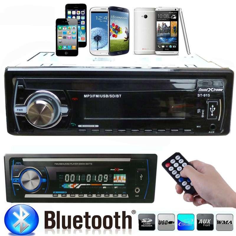 Bluetooth Car Stereo Audio In Dash Aux Input Receiver Sd: Car Stereo Bluetooth Audio 1 DIN In-Dash FM Aux Input