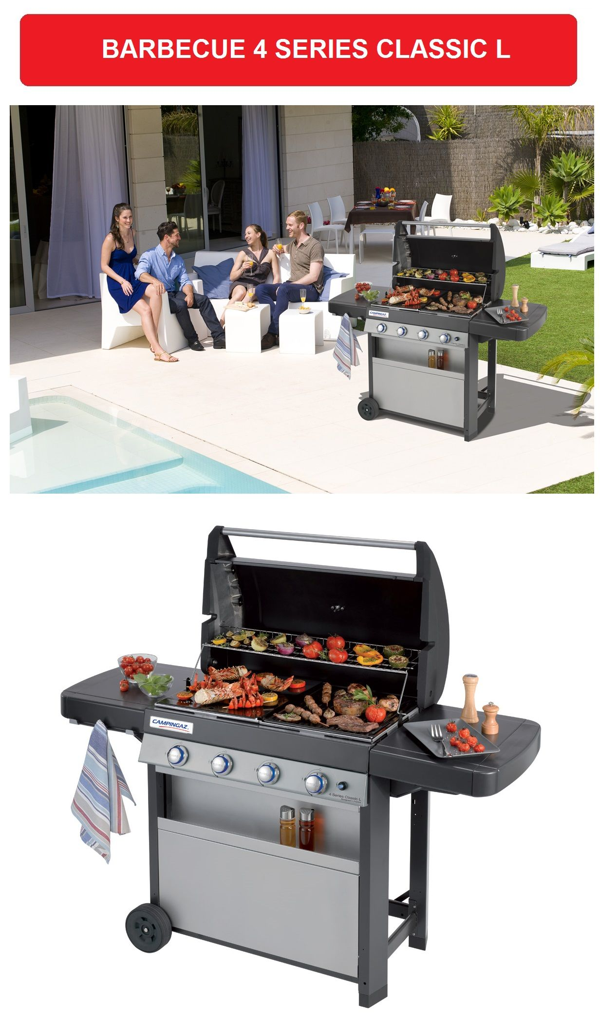 barbecue a gas 4 series classic l campingaz sistema. Black Bedroom Furniture Sets. Home Design Ideas
